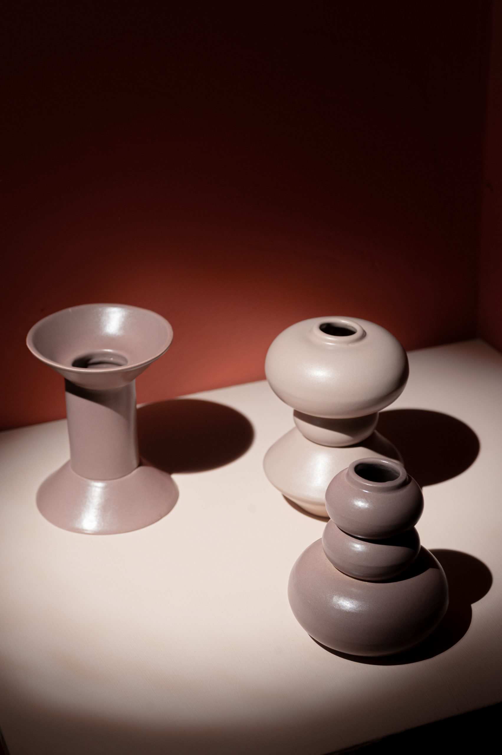 Collection SOVRAPPOSIZIONI sculptural vases
